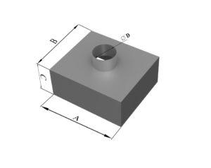 Адаптер прямоугольного сечения из нержавеющей стали