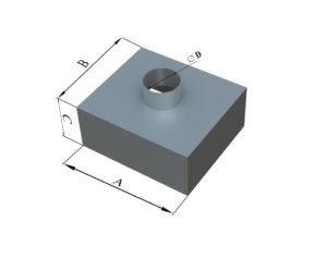 Адаптер прямоугольного сечения из оцинкованной стали