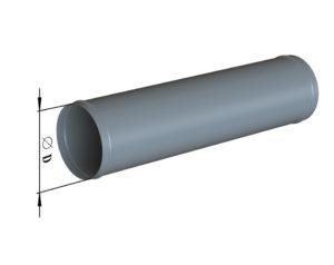 Воздуховод круглого сечения прямошовный из оцинкованной стали