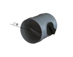 Дроссель-клапан круглый из оцинкованной стали
