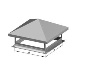 Зонт прямоугольный из нержавеющей стали