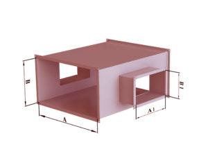 Крестовина прямоугольного сечения из черной стали