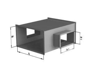 Крестовина прямоугольного сечения из нержавеющей стали