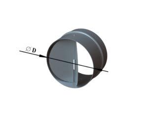 Обратный клапан из оцинкованной стали