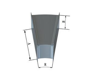 Отвод прямоугольного сечения 15 из оцинкованной стали