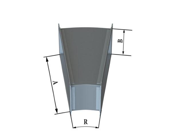 Отвод прямоугольного сечения 15