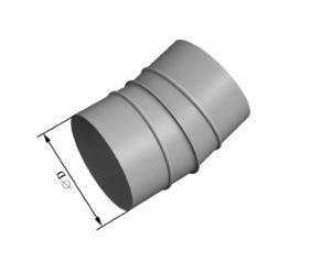 Отвод круглого сечения 15 из нержавеющей стали