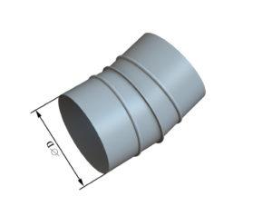 Отвод круглого сечения 15 из оцинкованной стали