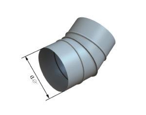 Отвод круглого сечения 30 из оцинкованной стали