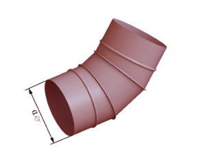 Отвод круглого сечения 45 из черной стали
