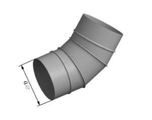 Отвод круглого сечения 45 из нержавеющей стали
