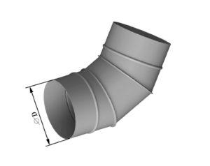 Отвод круглого сечения 60 из нержавеющей стали