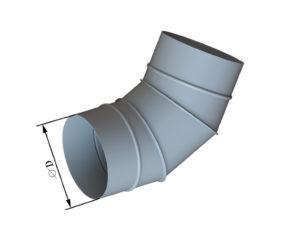 Отвод круглого сечения 60 из оцинкованной стали