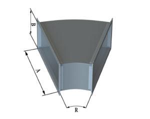 Отвод прямоугольного сечения 30 из оцинкованной стали