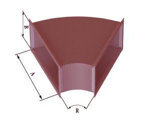 Отвод прямоугольного сечения 45 из черной стали