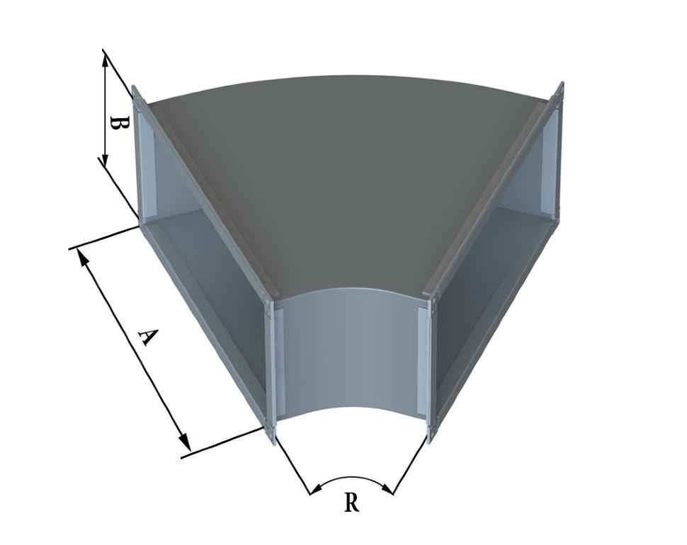 Отвод прямоугольного сечения 45