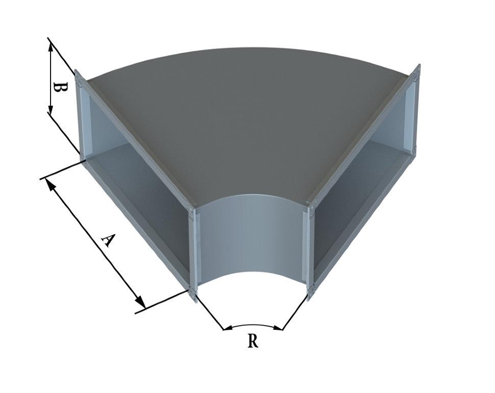 Отвод прямоугольного сечения 60