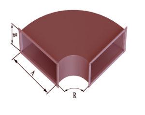 Отвод прямоугольного сечения 90 из черной стали