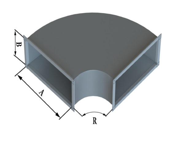 Отвод прямоугольного сечения 90