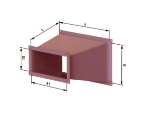 Переход с прямоугольного на прямоугольное из черной стали