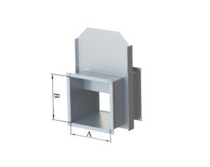 Шиберная заслонка прямоугольная из оцинкованной стали