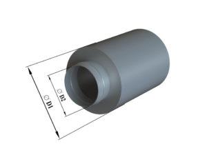 Шумогулшитель круглый из оцинкованной стали