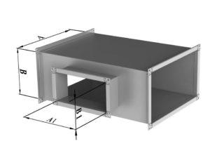 Тройник прямоугольного сечения из нержавеющей стали