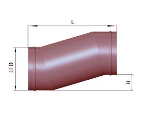 Утка круглого сечения из черной стали