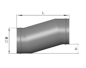 Утка круглого сечения из нержавеющей стали