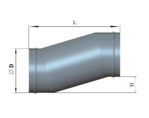 Утка круглого сечения из оцинкованной стали