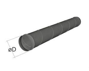 Воздуховод спирально-навивной из оцинкованной стали