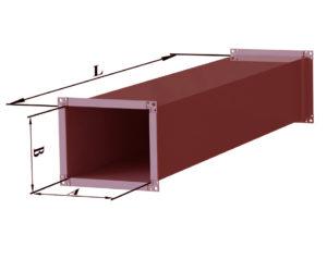 Воздуховод прямоугольного сечения из черной стали