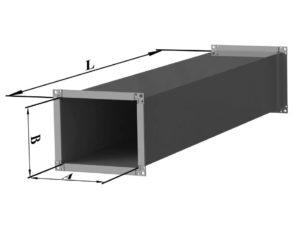 Воздуховод прямоугольного сечения из нержавеющей стали