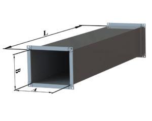Воздуховод прямоугольного сечения из оцинкованной стали