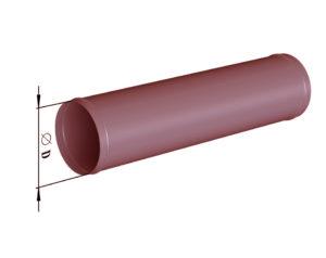 Воздуховод круглого сечения прямошовный из черной стали