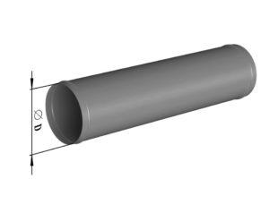 Воздуховод круглого сечения прямошовный из нержавеющей стали