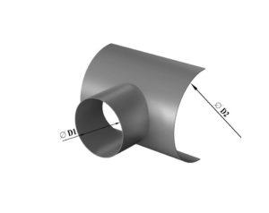 Врезка круглого сечения в круглый воздуховод из нержавеющей стали