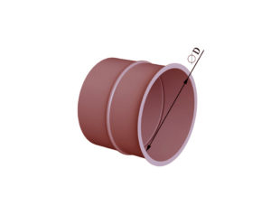 Врезка круглого сечения в плоскость из черной стали