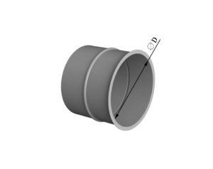 Врезка круглого сечения в плоскость из нержавеющей стали
