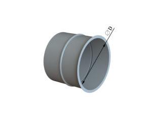 Врезка круглого сечения в плоскость из оцинкованной стали