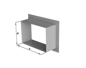 Врезка прямоугольного сечения в плоскость из нержавеющей стали