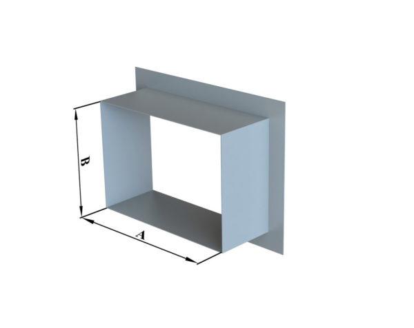 Врезка прямоугольного сечения в плоскость
