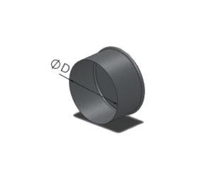 Заглушка торцевая круглого сечения из оцинкованной стали