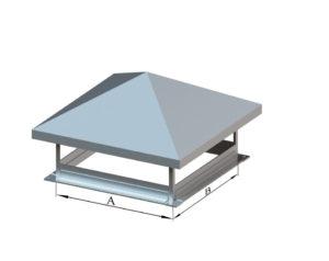 Зонт прямоугольный из оцинкованной стали