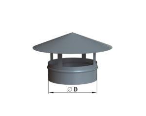 Зонт круглый из оцинкованной стали